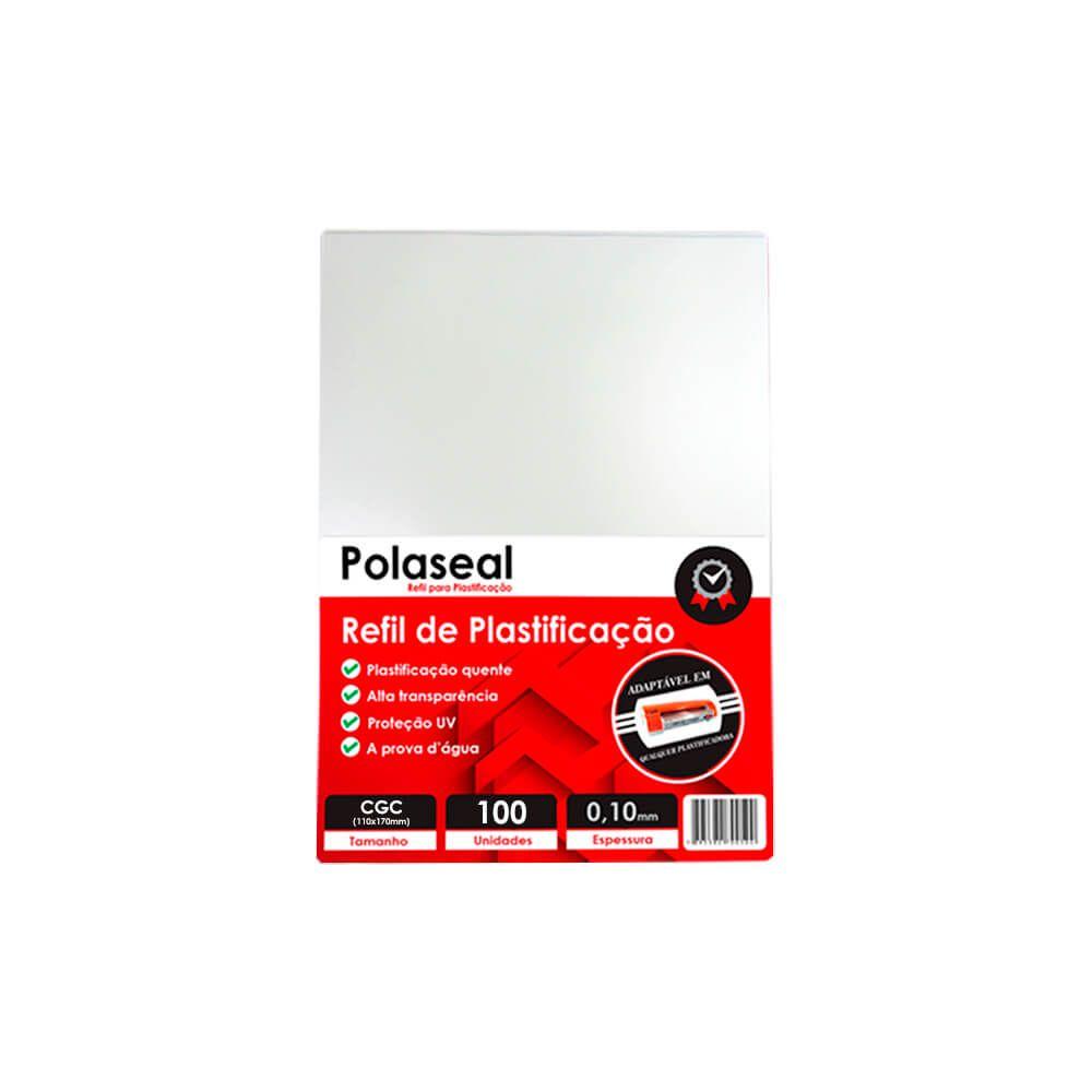Polaseal Plástico para Plastificação CGC 110x170x0,10 100un