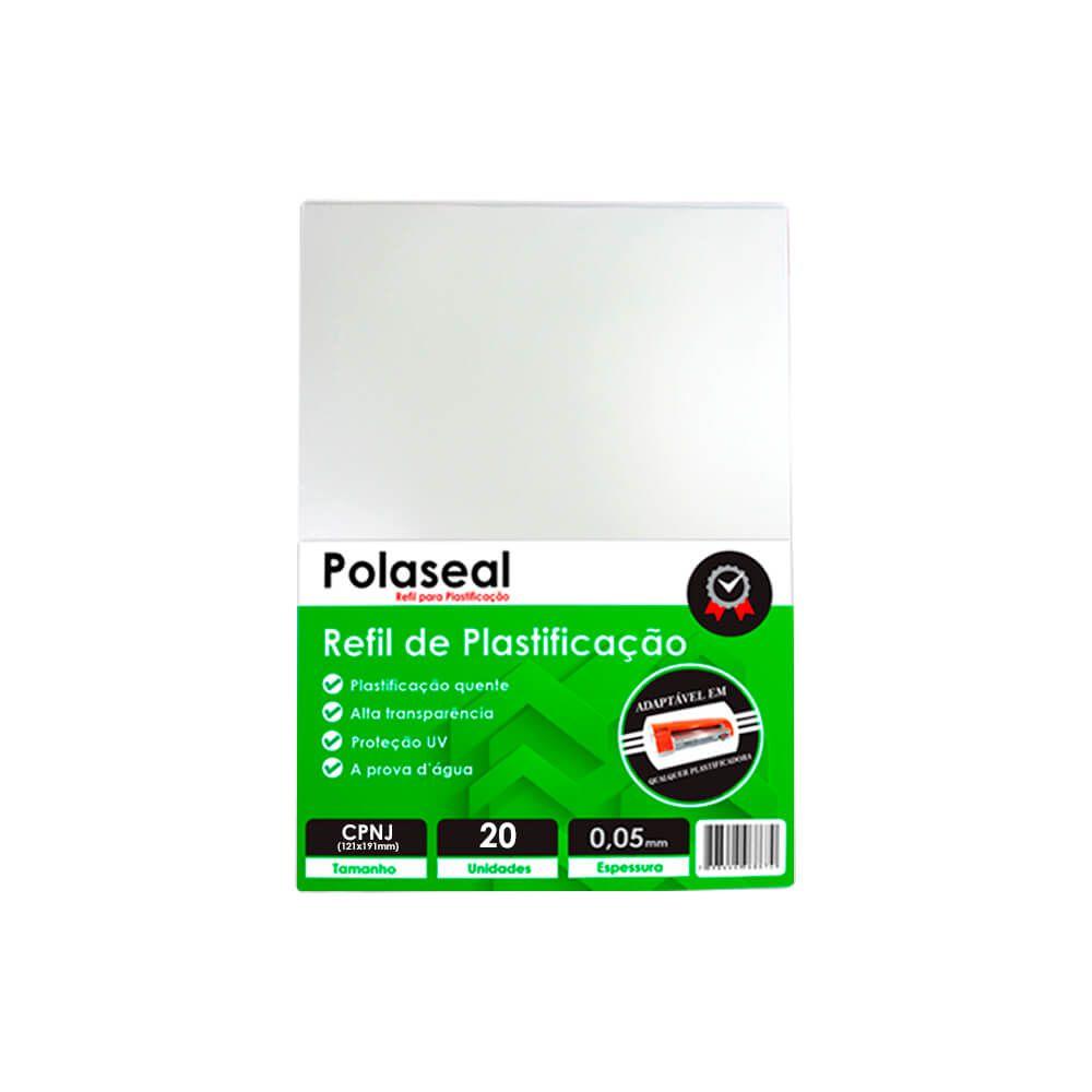 Polaseal Plástico para Plastificação CNPJ 121x191x0,05 20un