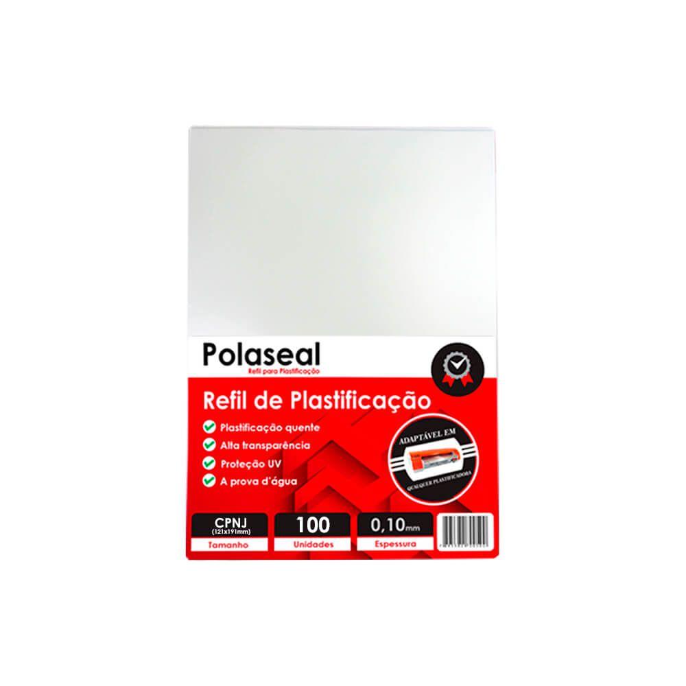 Polaseal Plástico para Plastificação CNPJ 121x191x0,10 100un