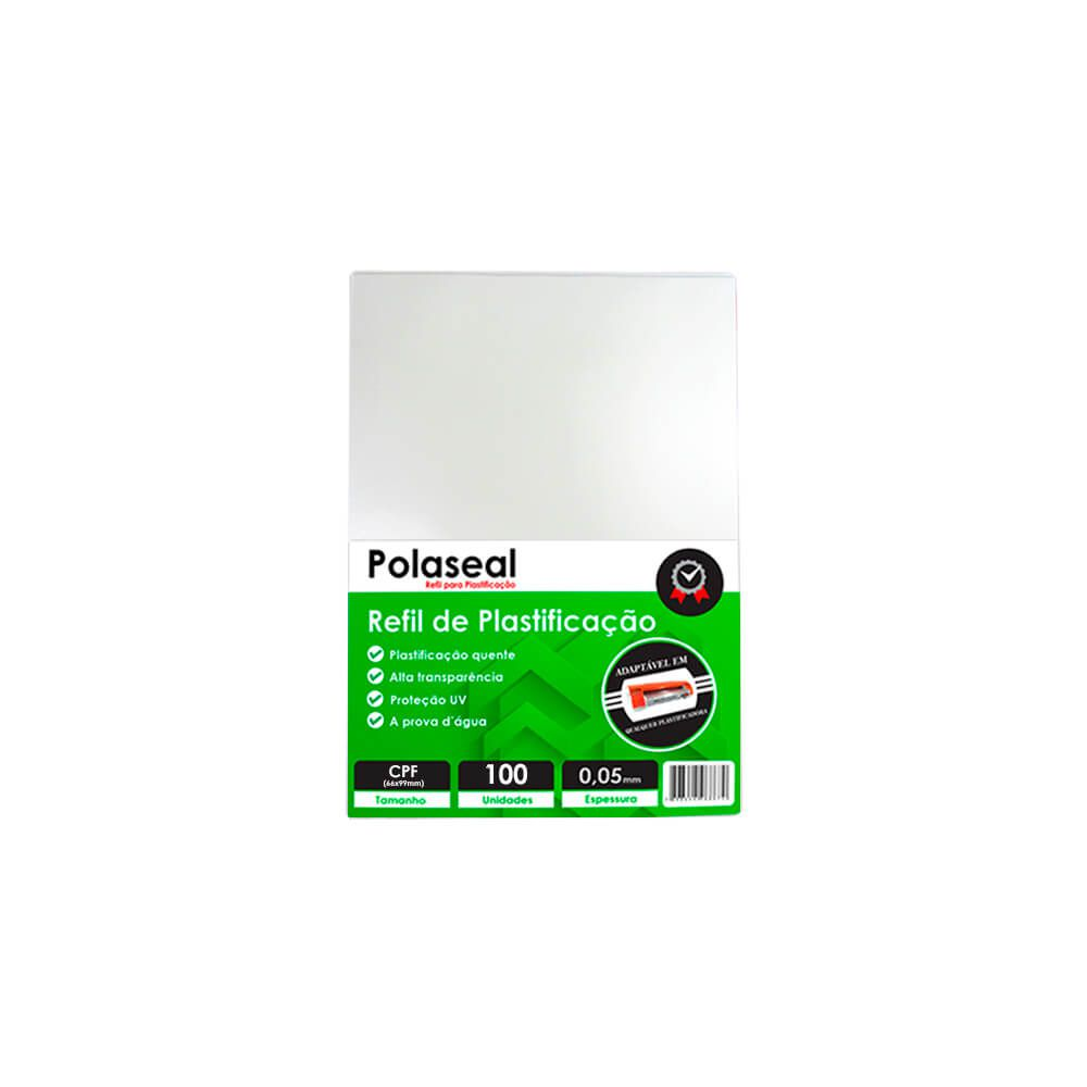 Polaseal Plástico para Plastificação CPF 66x99x0,05mm 100un