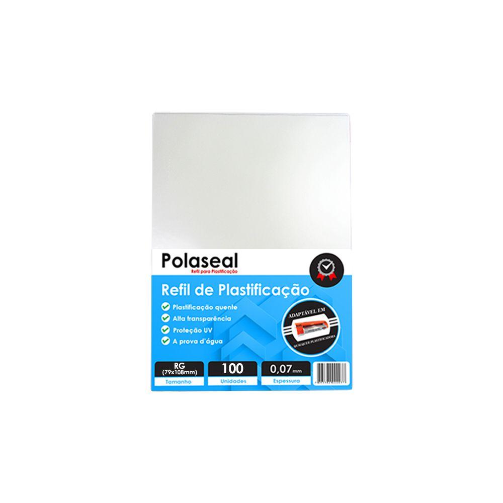 Polaseal Plástico para Plastificação RG 79x108x0,07mm 100un