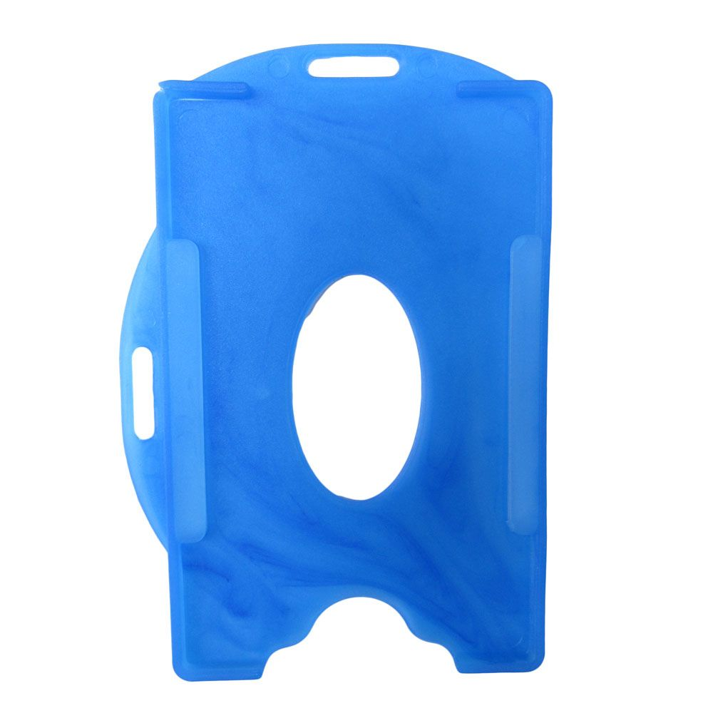 Porta Crachá Azul Royal Sólido Universal Marpax 100un