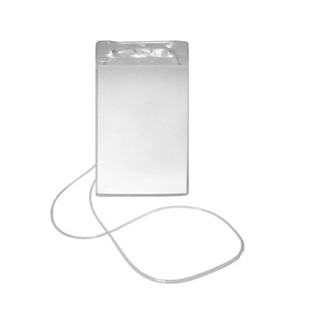 Porta Crachá PVC Cordão Silicone Vertical 12x8cm Plastpark 100un
