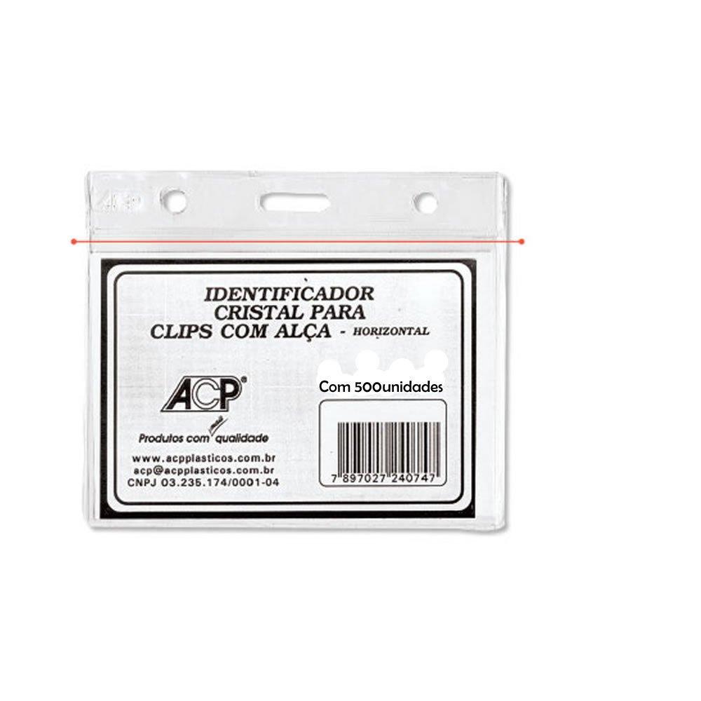 Porta Crachá PVC Horizontal 70x100mm ACP 500un