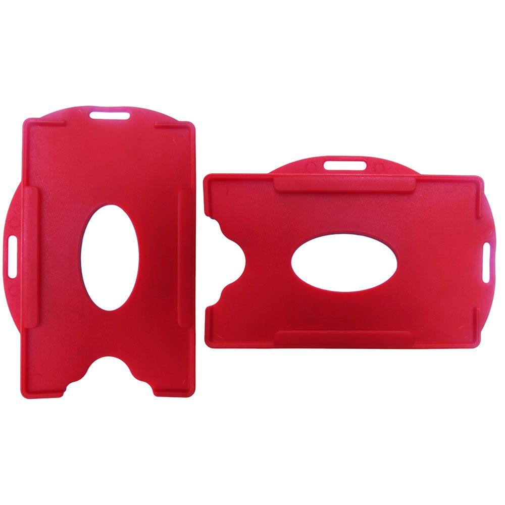 Porta Crachá Vermelho Sólido Universal Marpax 100un