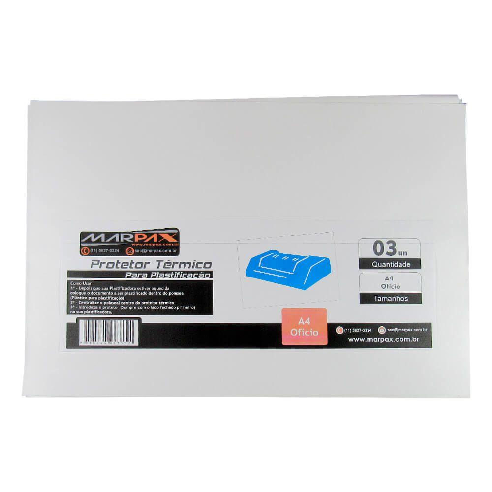 Protetor térmico para plastificação A4 e Ofício 3un