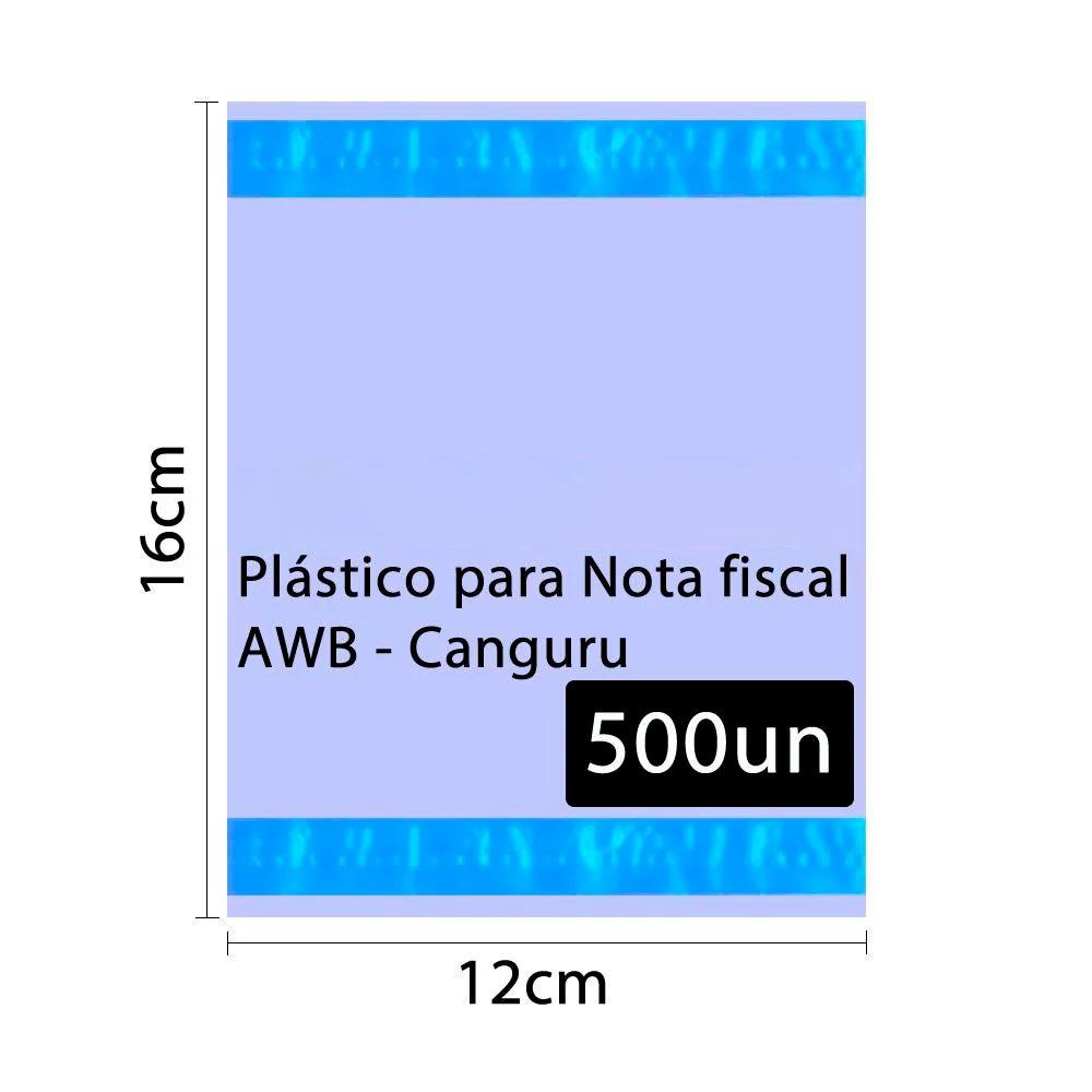 Saco Canguru Plástico para Nota Fiscal 12x16cm 500un 2F
