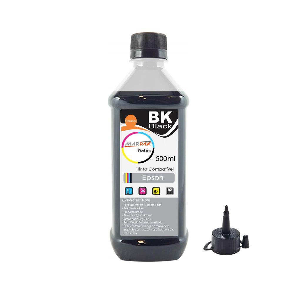 Tinta de Impressora Compatível Epson L355 L365 L375 L395 Marpax Black 500ml