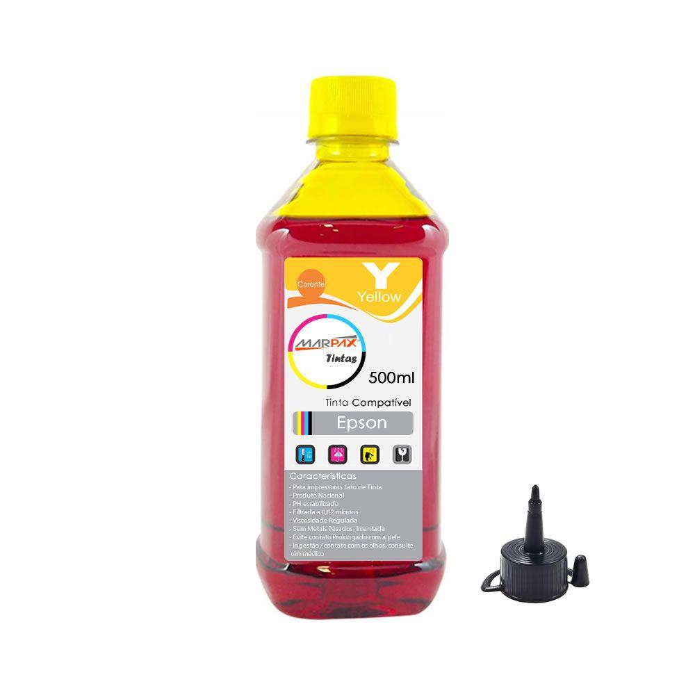 Tinta Epson impressora L355 L365 L375 L395 Yellow 500ml