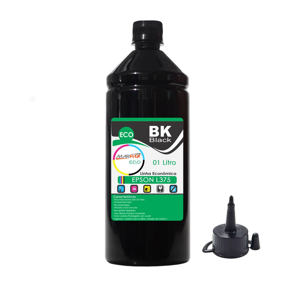 Tinta Epson L375 Tanque Econômica Black Marpax 01 Litro
