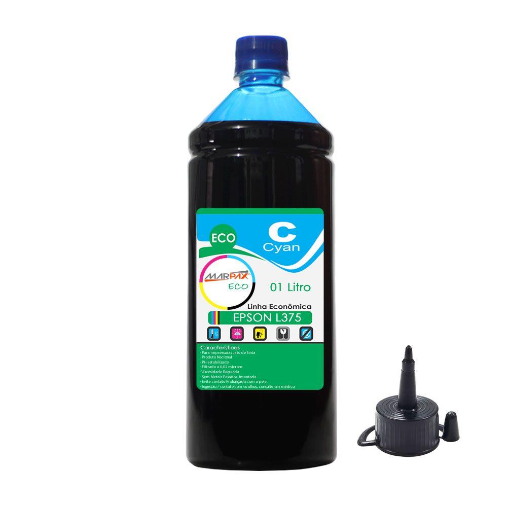 Tinta Epson L375 Tanque Econômica Cyan Marpax 01 Litro