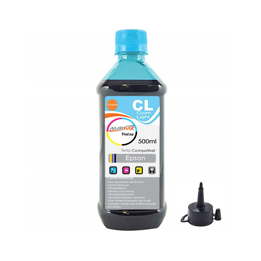 Tinta impressora Epson Universal Cyan Light Marpax 500ml