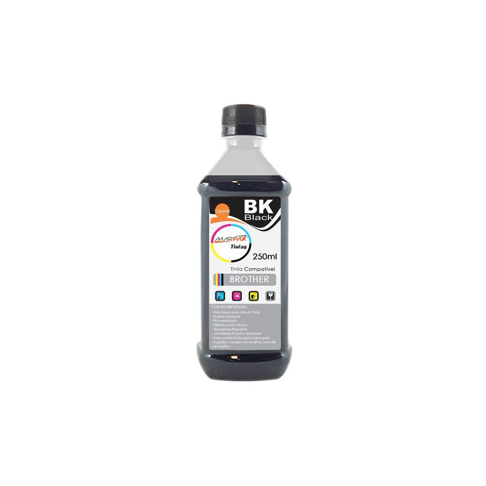 Tinta para Impressora Brother Compatível Black Marpax 250ml