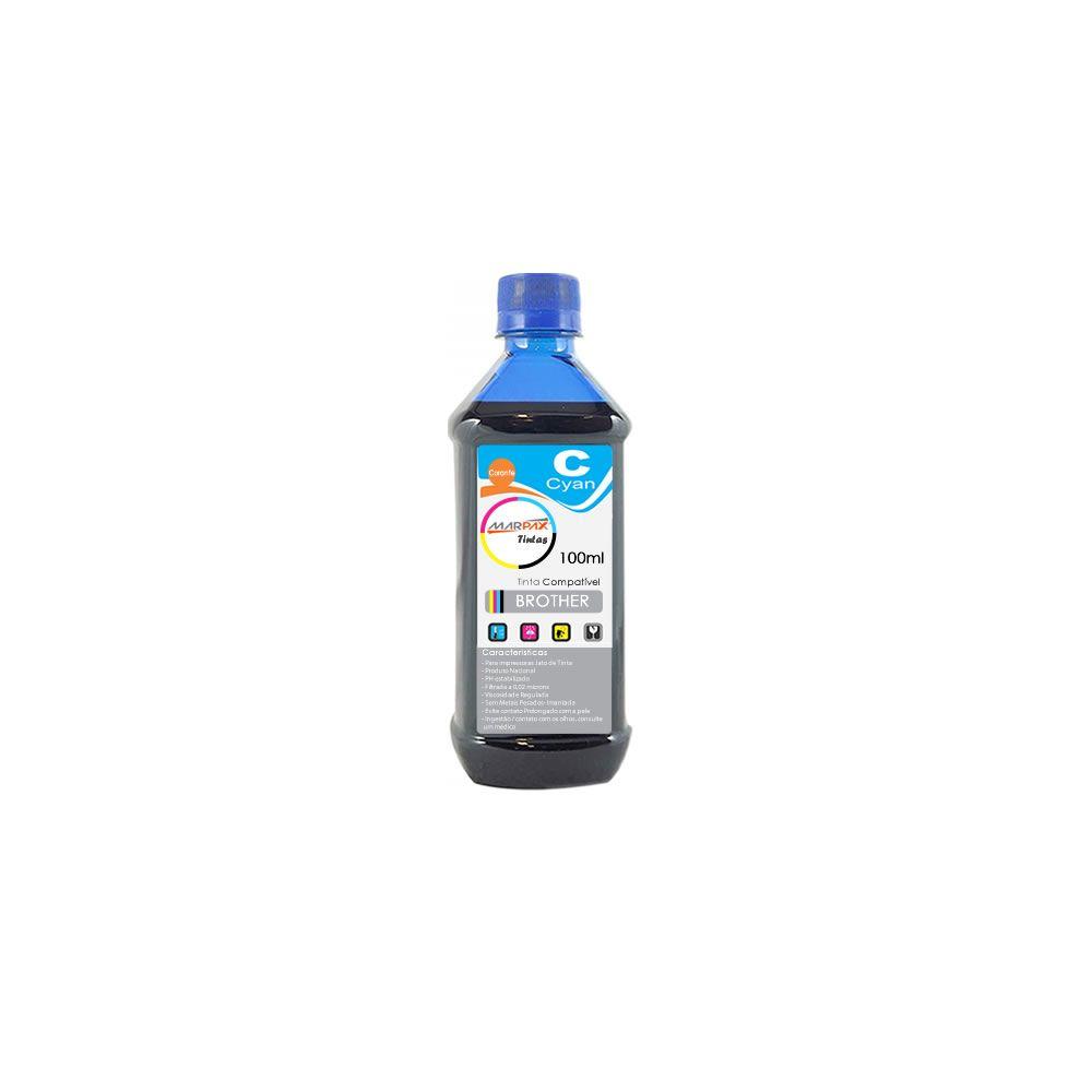 Tinta para Impressora Brother Compatível Cyan Marpax 100ml