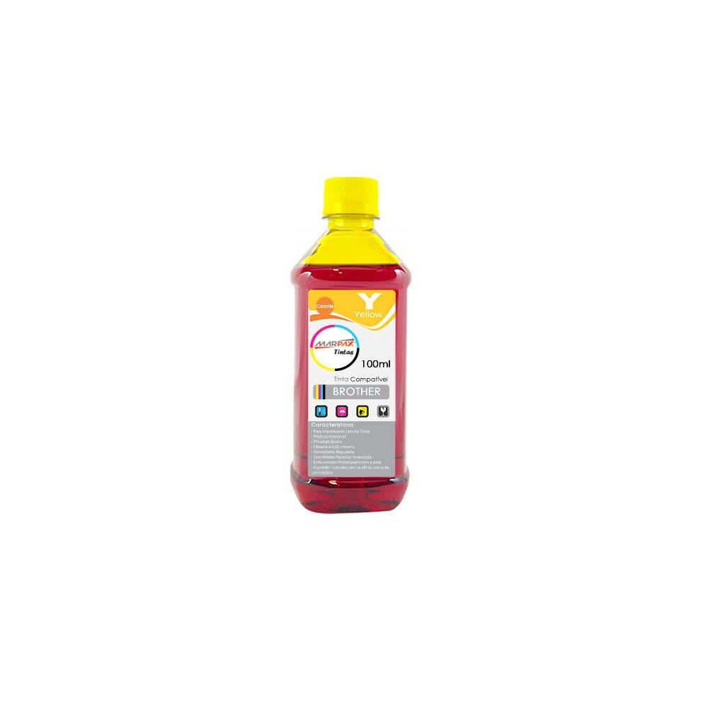 Tinta para Impressora Brother Compatível Yellow Marpax 100ml