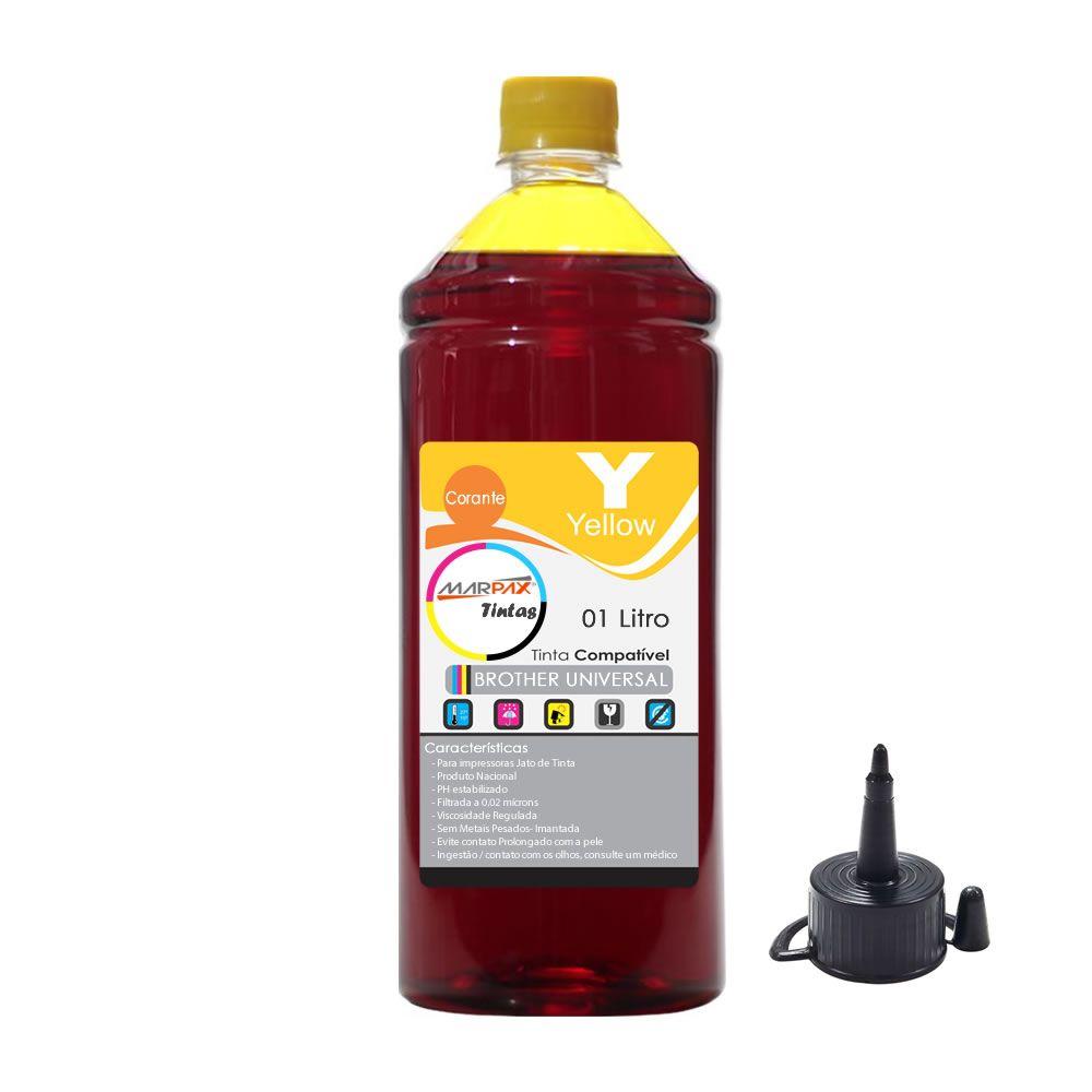 Tinta para Impressora Brother Compatível Yellow Marpax 1 Lt
