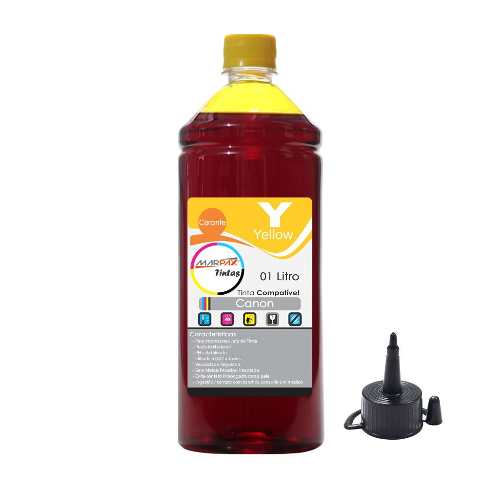 Tinta para impressora Canon Compatível Yellow Marpax 01Litro