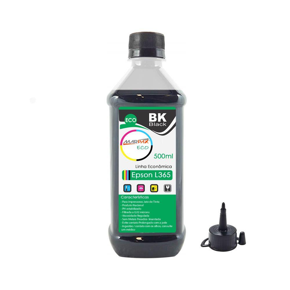 Tinta para Impressora Epson L365 Eco Black Marpax 500ml