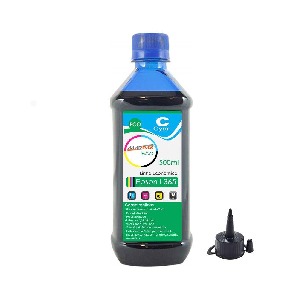 Tinta para Impressora Epson L365 Eco Cyan Marpax 500ml