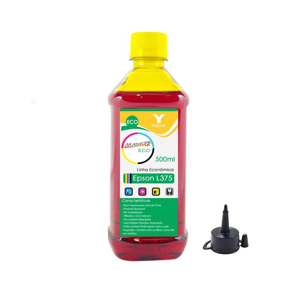 Tinta para Impressora Epson L375 Eco Yellow Marpax 500ml