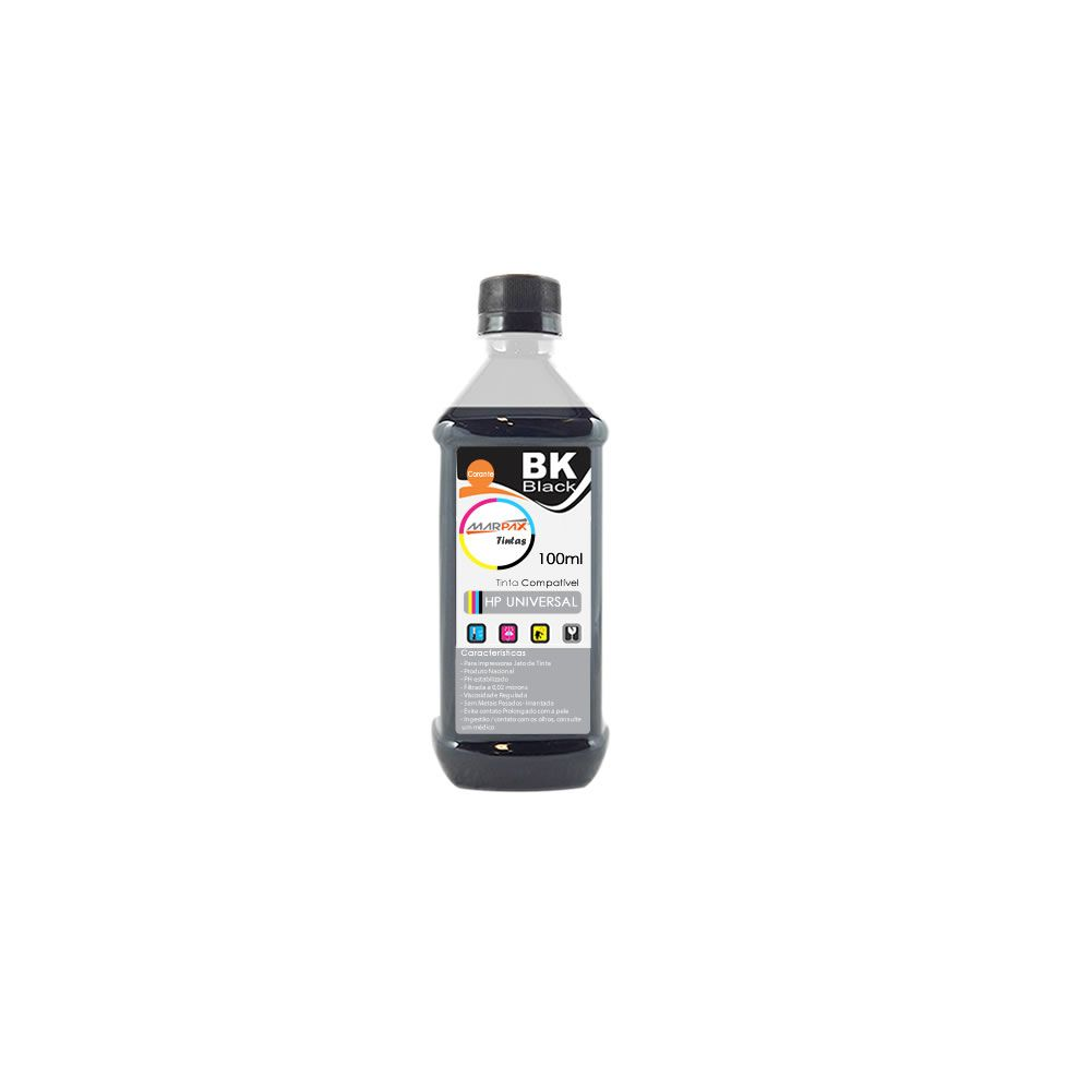 Tinta para impressora HP Black Compatível Marpax 100ml