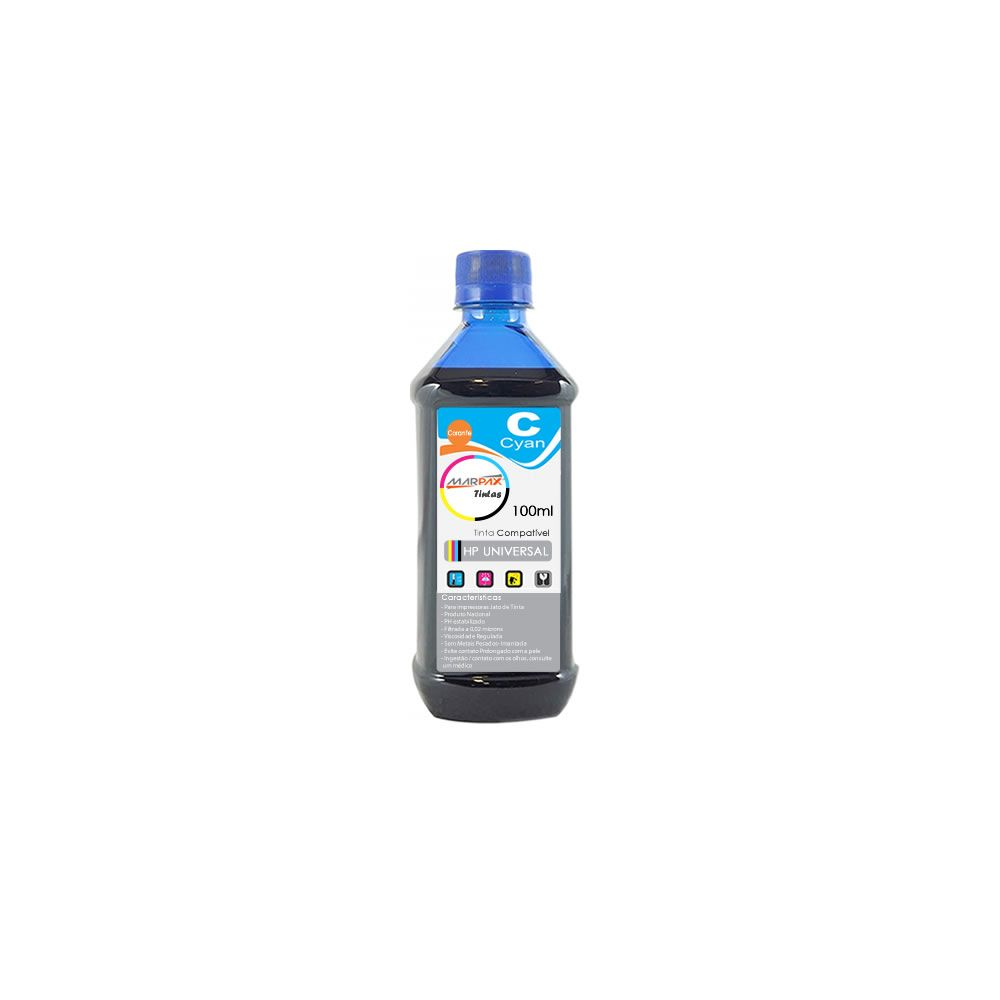 Tinta para impressora HP Cyan Compatível Marpax 100ml