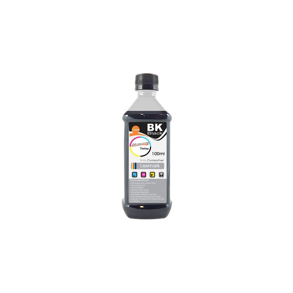 Tinta para impressora Lexmark Compatível Black Marpax 100ml