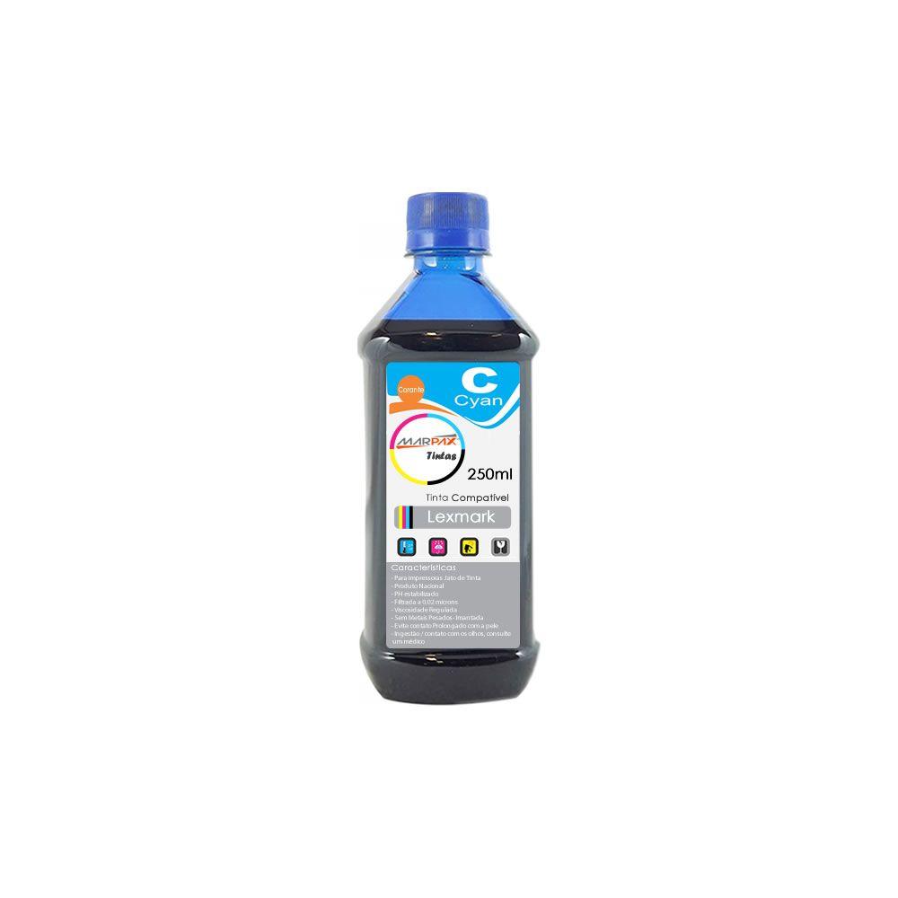 Tinta para impressora Lexmark Compatível Cyan Marpax 250ml