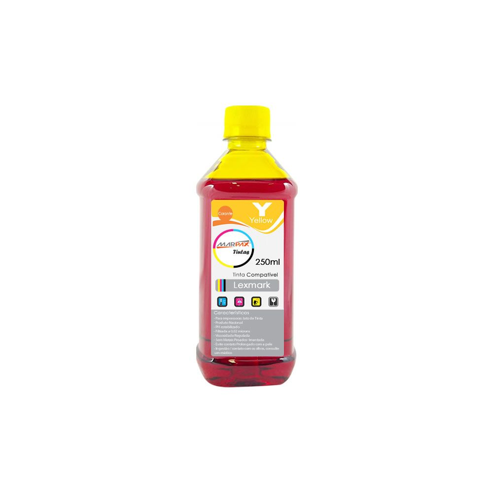 Tinta para impressora Lexmark Compatível Yellow Marpax 250ml