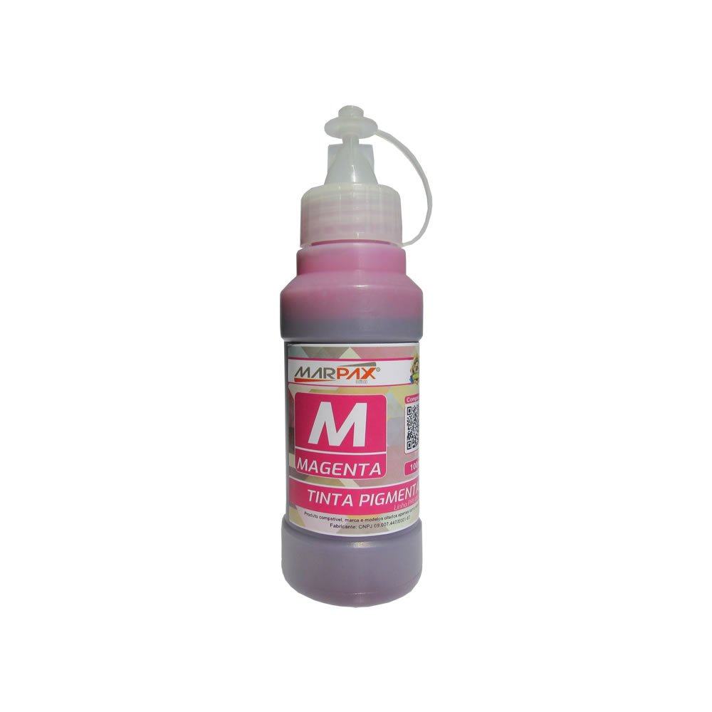 Tinta Pigmentada Epson Compatível Magenta Marpax 100ml