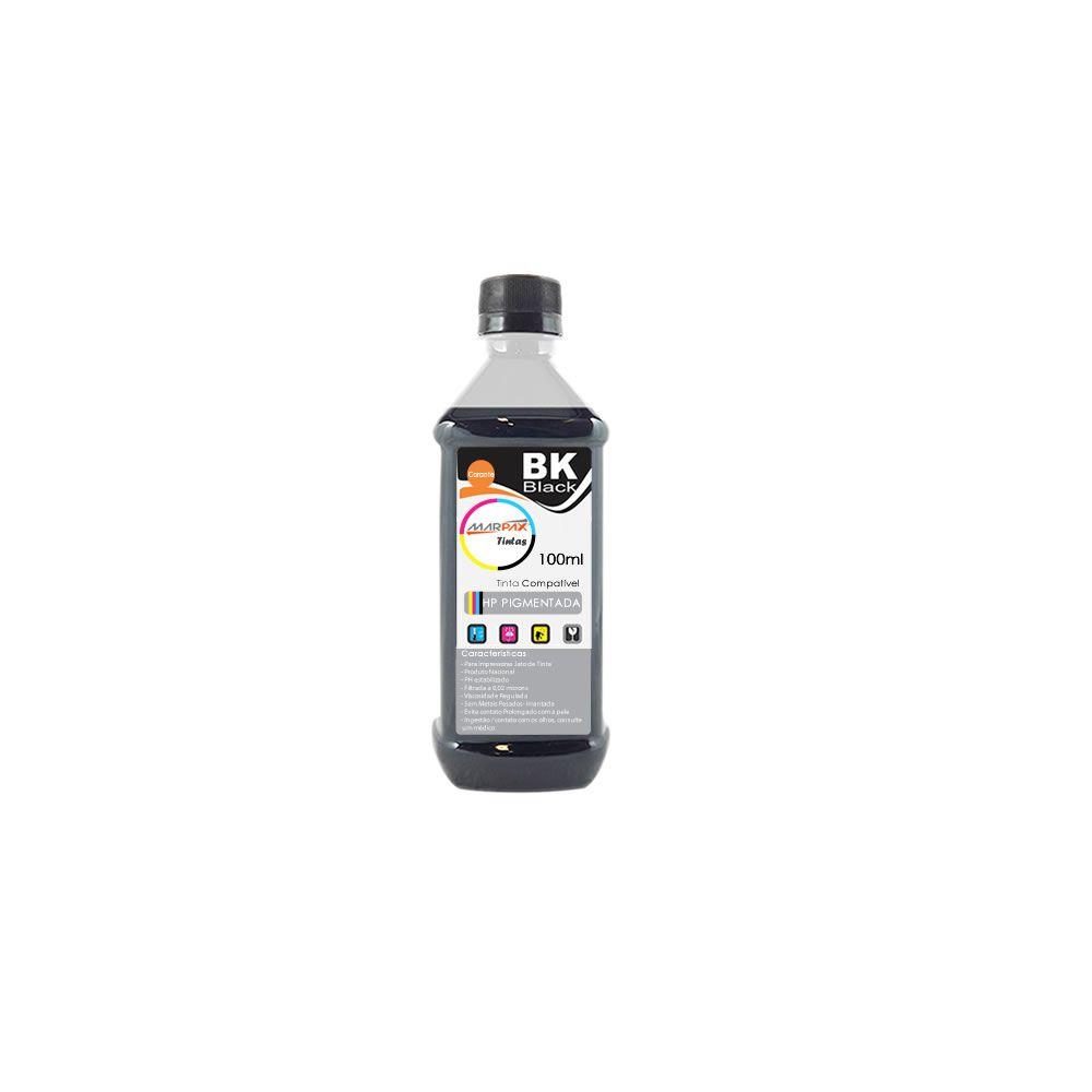 Tinta Pigmentada para HP Black Compatível Marpax 100ml