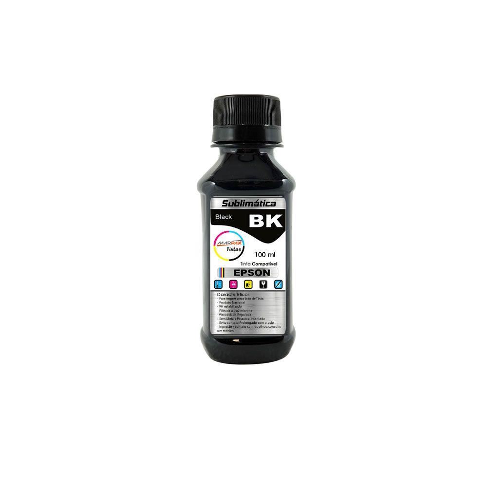 Tinta Sublimática Epson Compatível Black Marpax 100ml