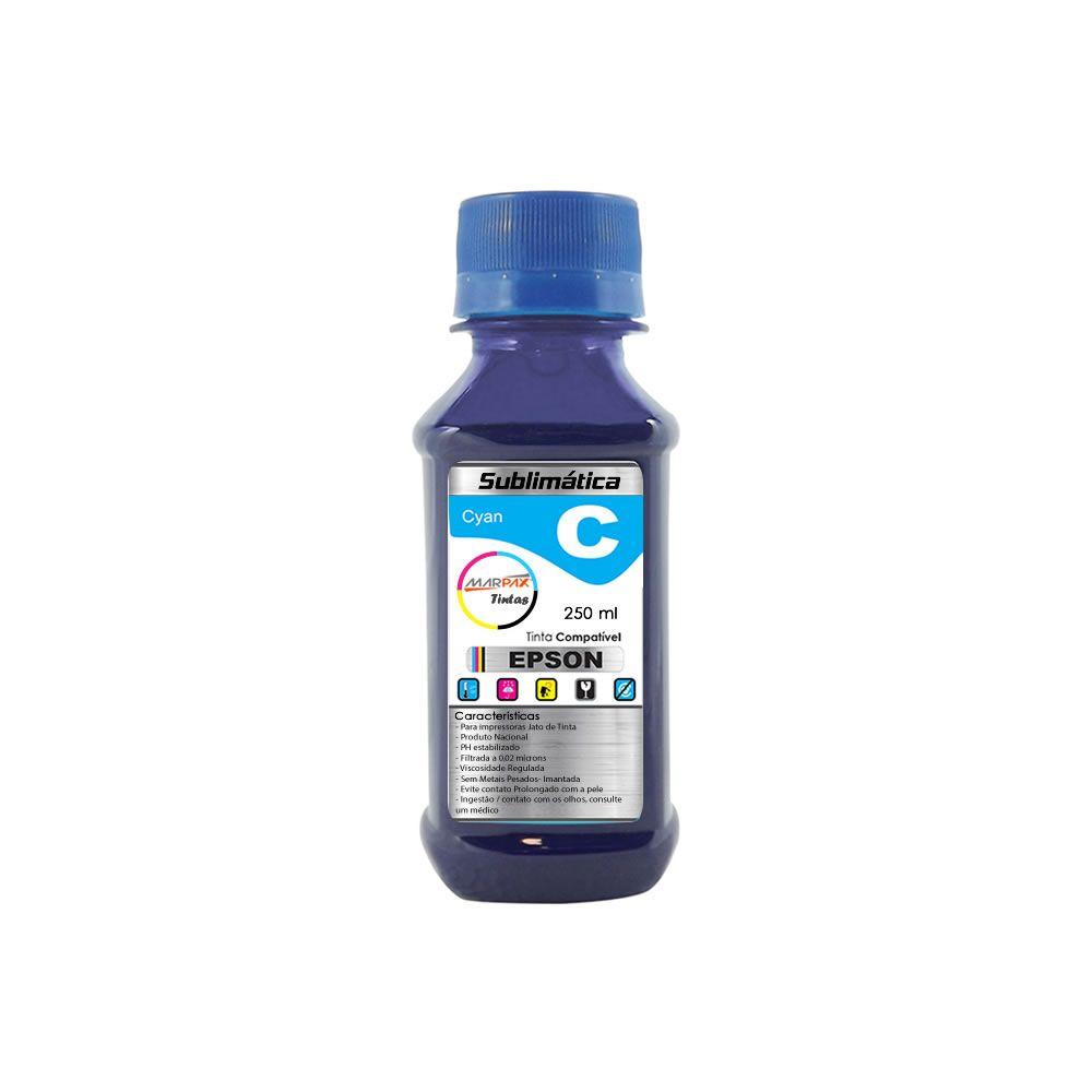 Tinta Sublimática Epson Compatível Cyan Marpax 250ml