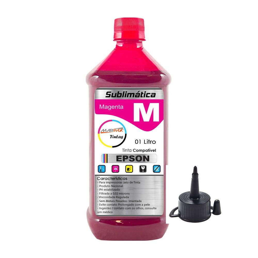 Tinta Sublimática Epson Compatível Magenta Marpax 01 Litro