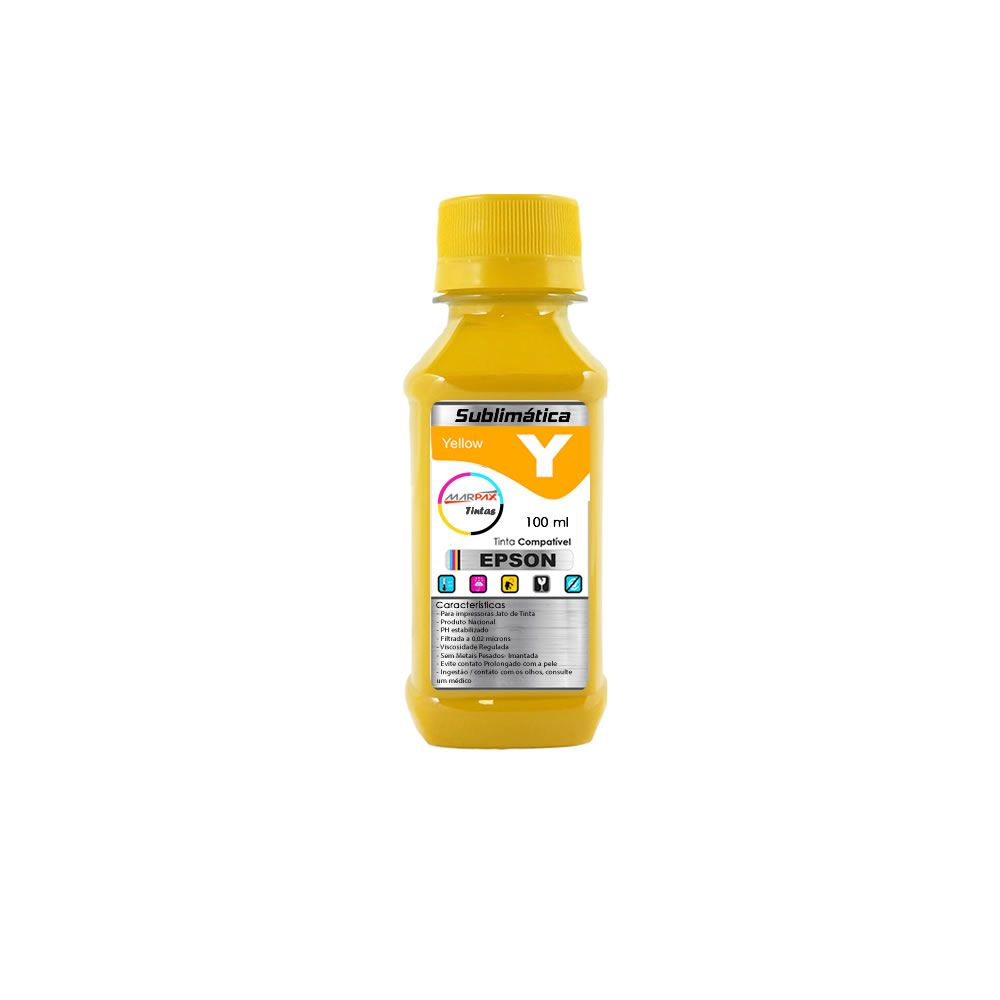 Tinta Sublimática Epson Compatível Yellow Marpax 100ml
