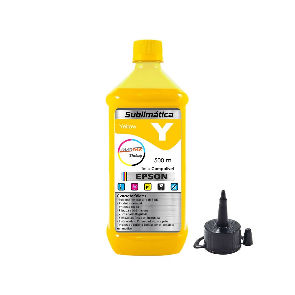Tinta Sublimática Epson Compatível Yellow Marpax 500ml