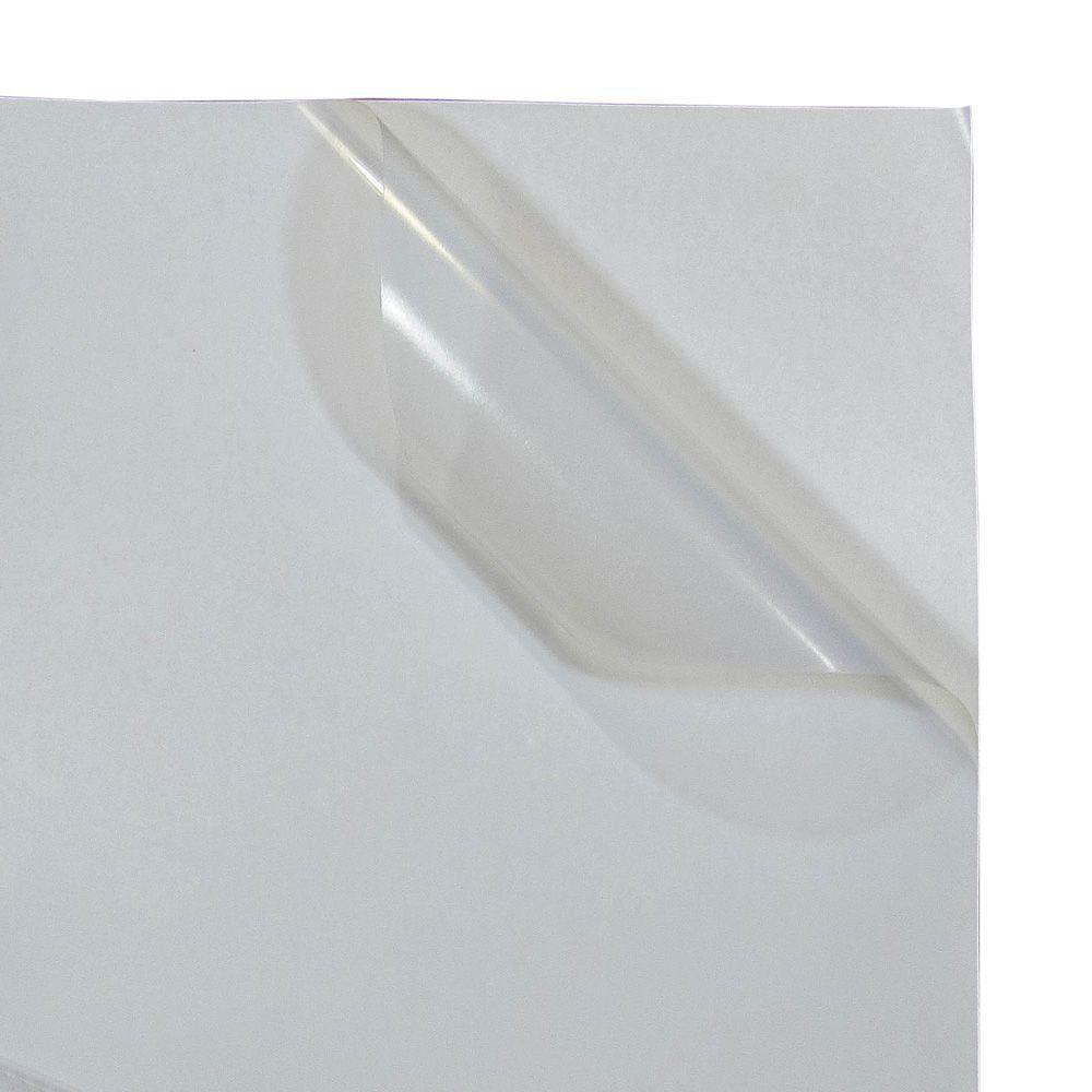 Vinil Adesivo A4 110g Branco Leitoso Brilho impermeável Marpax 10 folhas