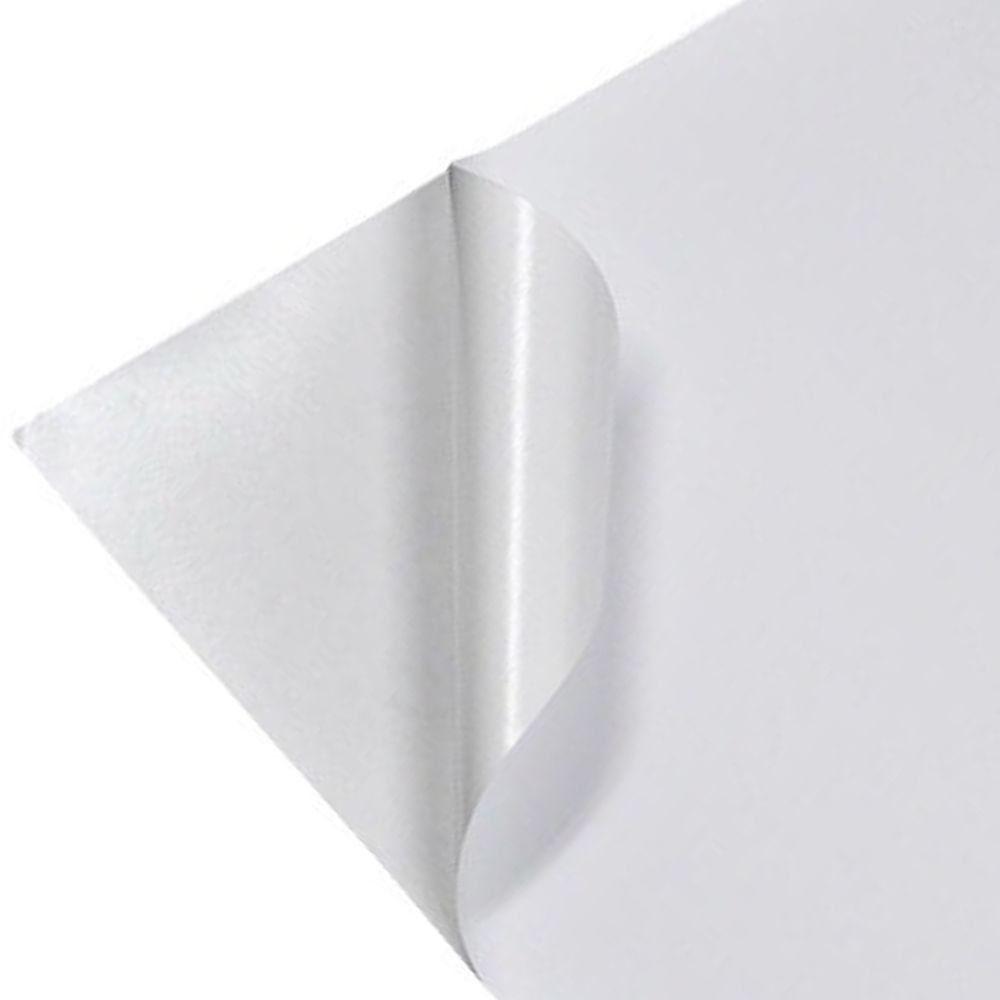 Vinil Adesivo A4 110g Brilhante Branco Jato De Tinta 50 Fls