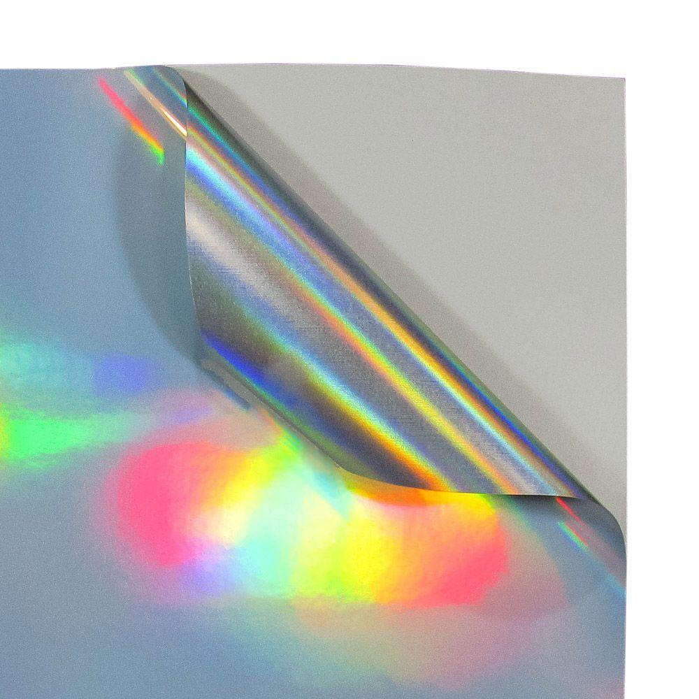 Vinil Adesivo A4 110g Holográfico Brilho impermeável Marpax 10 folhas