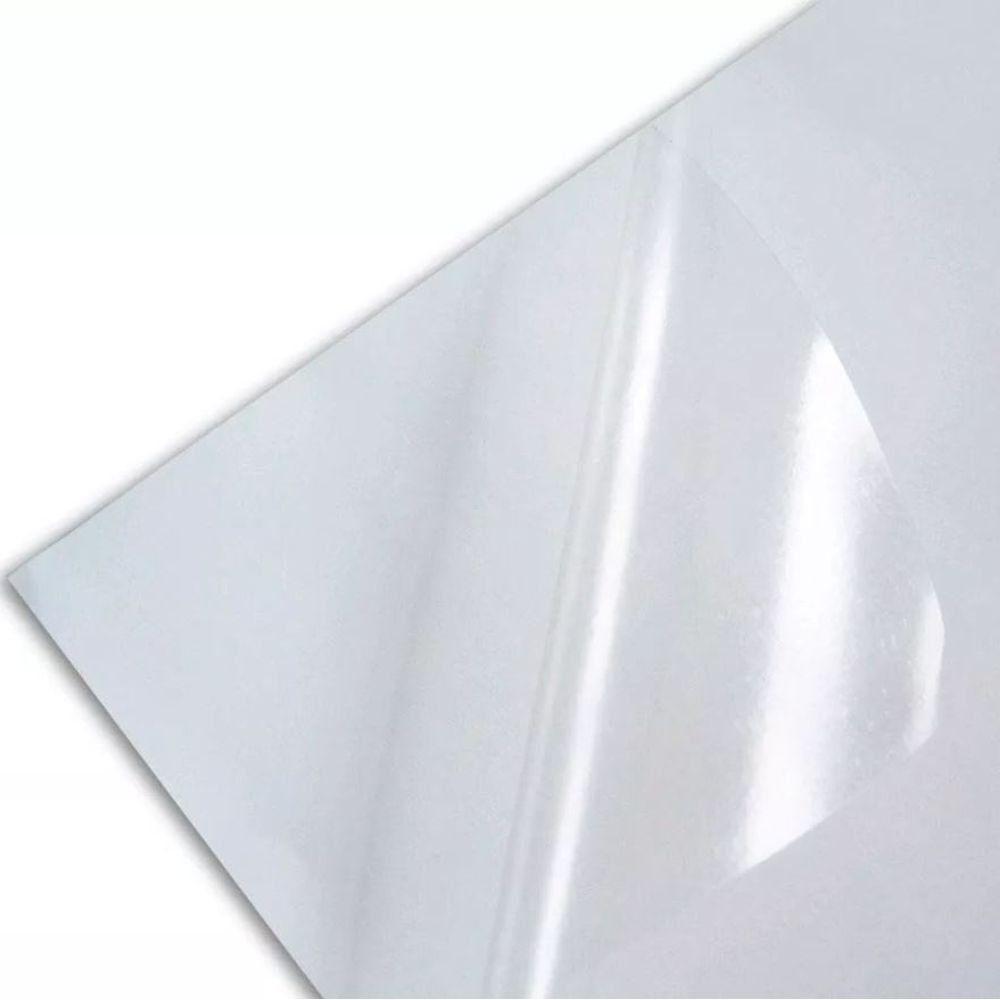 Vinil Adesivo A4 70g Transparente Brilhante Laser 50 Folhas