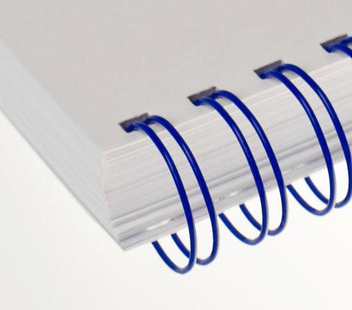 Wire-o para Encadernação 2x1 A4 Azul 1 para 200 fls 24un