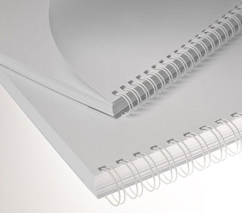 Wire-o para Encadernação 2x1 A4 Branco 7/8 para 180fls 24un