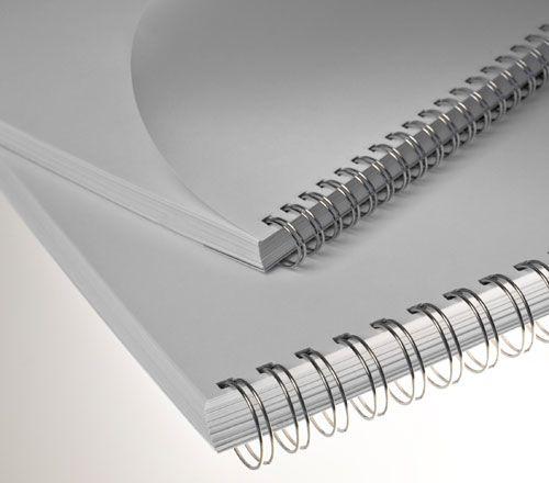 Wire-o para Encadernação 2x1 A4 Prata 1 para 200 fls 24un