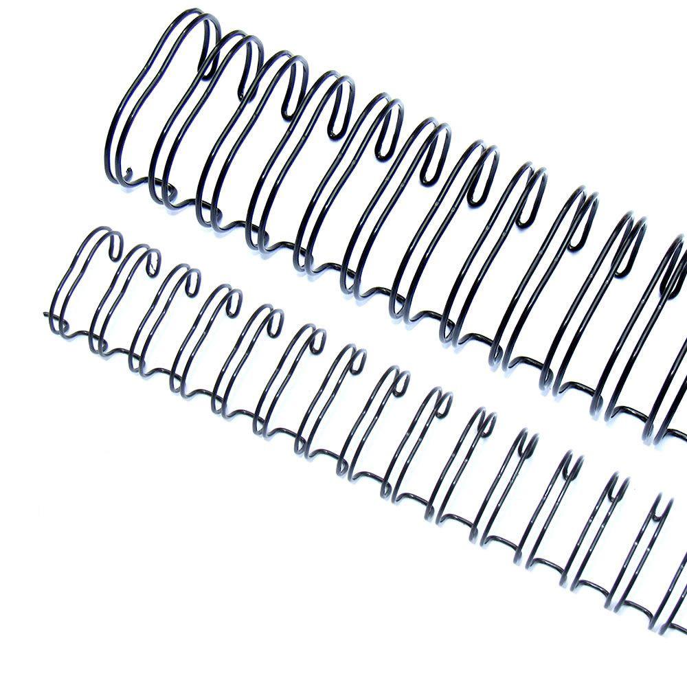 Wire-o para Encadernação 2x1 A4 Preto 1 1/8 até 250fls 12un