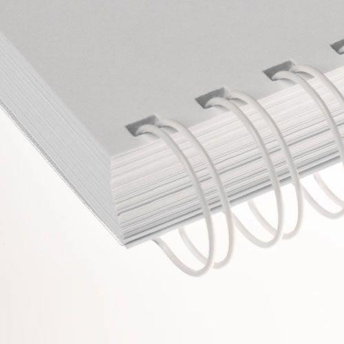 Wire-o para Encadernação 3x1 A4 Branco 7/16 até 85fls 100un