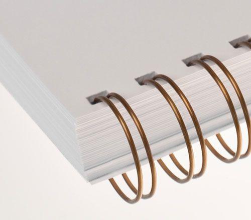 Wire-o para Encadernação 3x1 A4 Bronze 1/4 para 25 fls 60un