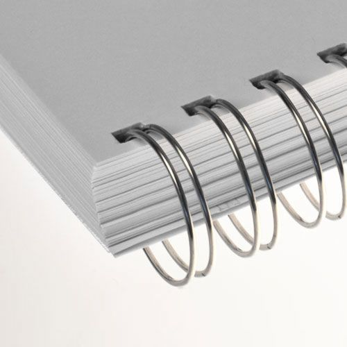 Wire-o para Encadernação 3x1 A4 Prata 1/2 para 95 fls 100un