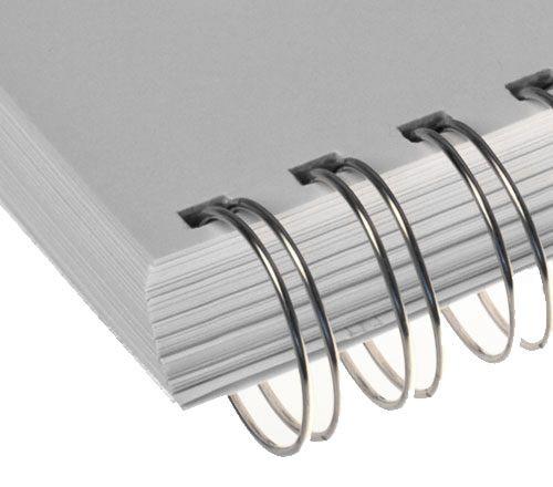 Wire-o para Encadernação 3x1 A4 Prata 1/2 para 95 fls 36un