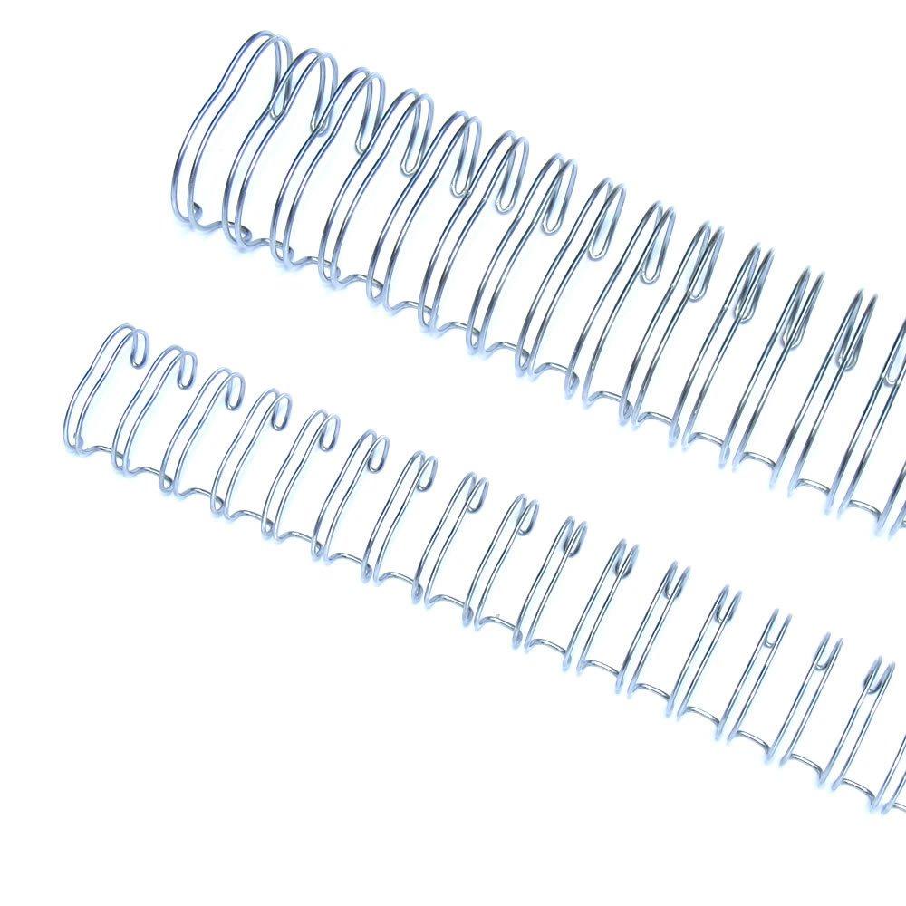 Wire-o para Encadernação 3x1 A4 Prata 3/8 para 60 fls 100un