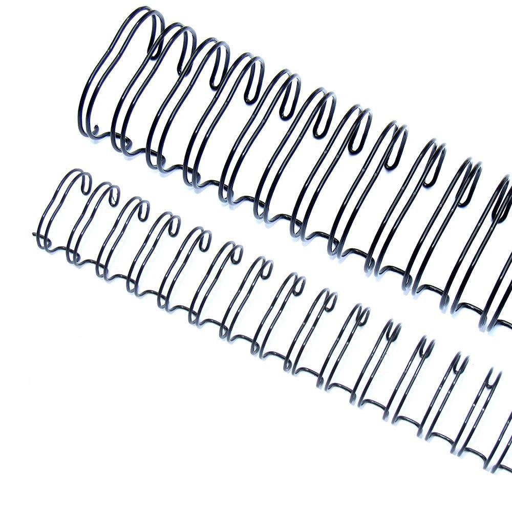 Wire-o para Encadernação 3x1 A4 Preto 5/16 para 50fls 100un
